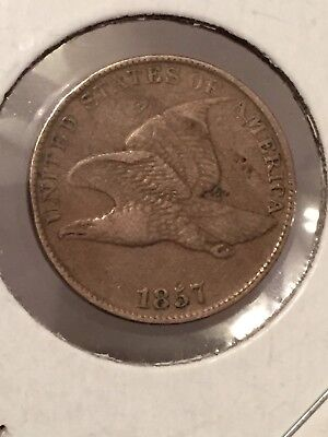 1857 1C Flying Eagle Cent * GREAT RARE COIN *