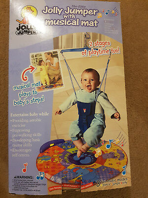 the elite jolly jumper with musical mat new