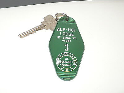 ALP-HOF SKI LODGE @ MOUNT SNOW, VERMONT Room Key (1980)
