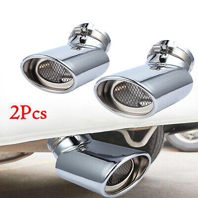 2Pcs Tip Exhaust Muffler Tail Pipe For Range Rover Stainless Steel Oval