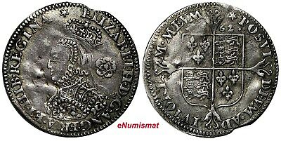 Great Britain  Elizabeth I Silver 1562 3 Pence S-2604 Ex.Grove,Grover Collection