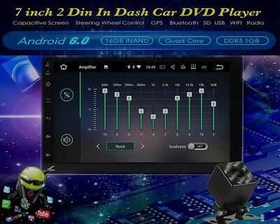 HIZPO 7'' inch Android 6.0 WiFi  2DIN bluetooth Car Radio Stereo DVD Player GPS