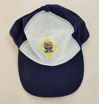 Bsa Boy Scouts Cap Size M/l Boy's Cap Bear 85293 Twill Sizeable Fitted Blue Hat