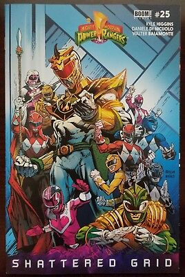 """Mighty Morphin Power Rangers #25 David Finch Variant  """"Shattered Grid"""" 2018"""