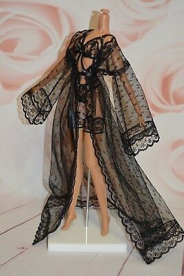 """OOAK Fashion Royalty doll lace lingerie for FR2 body 12"""""""