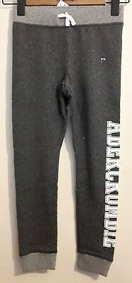 NEW Abercrombie Kids Girls 9/10 years Graphic Sweatpants, Grey