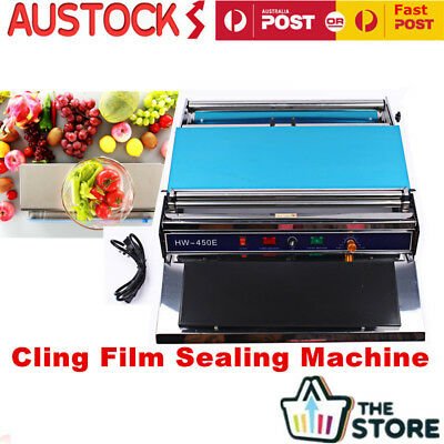 Food Tray Cling Film Wrap Sealer Sealing Machine For Fruit Food Vegetables