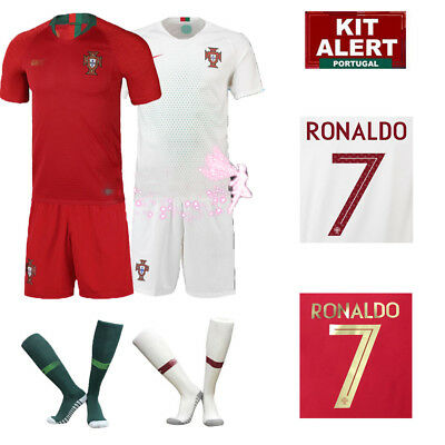 New World Cup Ronaldo Football Soccer Authorized Short Sleeve Kit for 3-14Y Kids