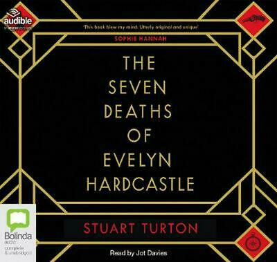 The Seven Deaths of Evelyn Hardcastle by Stuart Turton Compact Disc Book Free Sh