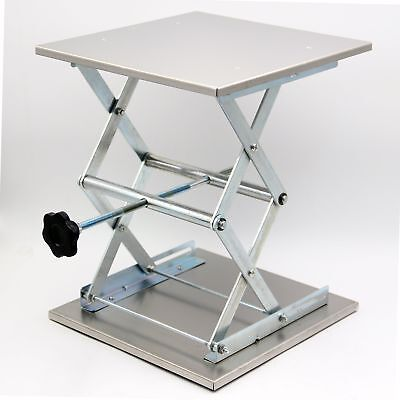 """HFS (R) Plate 12X12 """"; Overall Height 15""""; Max Load: 66LBS; Lab Jack Scissor"""