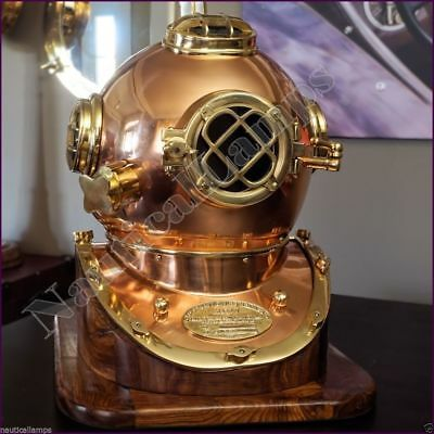 MORSE U.S NAVY VINTAGE Scuba DIVING HELMET SOLID BRASS & COPPER FINISH NAUTICAL