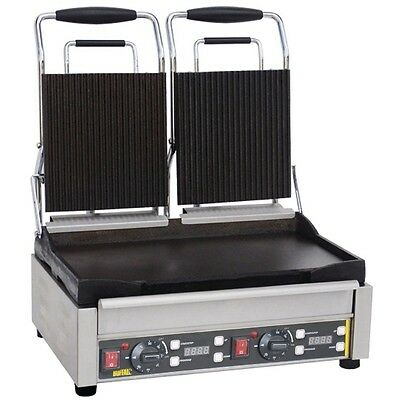 Buffalo Double Contact Grill Ribbed Top EBL554-A