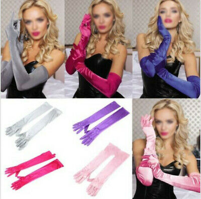 Opera Gloves Satin Wedding Bridal Long Gloves New Costume Evening Party Prom