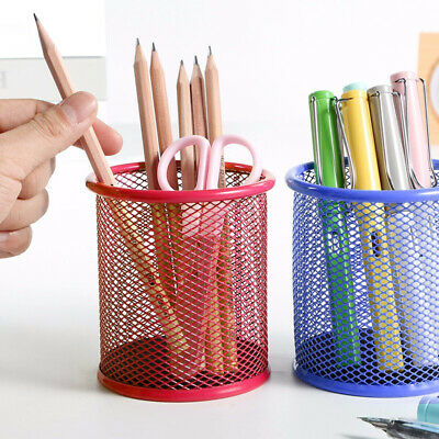 Hollow DK Cosmetic Metal Pen Pencil Pot Holder UG Stationery Container Organizer