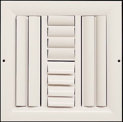"""20""""w X 20""""h 4-Way Aluminum Curved Blade Adjustable Air Supply HVAC Diffuser -"""