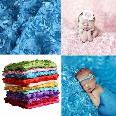 Newborn Baby 3D Photography Photo Prop Rose Flower Backdrop Soft Blanket Rug