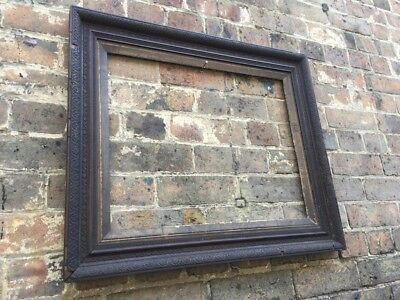 Antique Wooden Veneered Picture Frame, Ornate Gesso, Gold Gilt, Victorian, Large