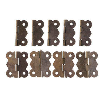 10pcs Mini Bronze-Plated Butterfly Hinges Mini Butt for Jewel GIft Box Craft