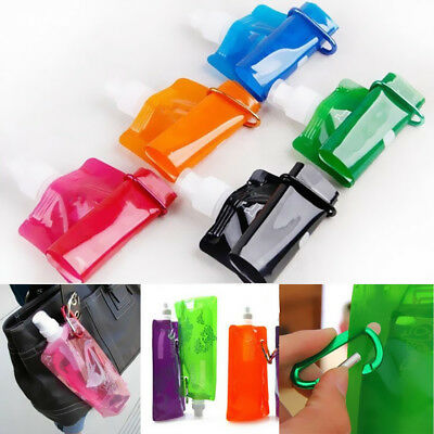 Water Cups Outdoor Sport Bottle Bag Collapsible Plastic Foldable Folding
