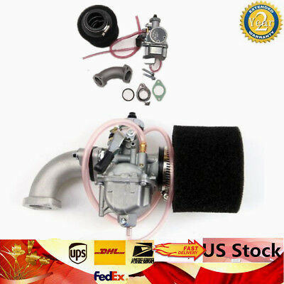 For Dirt Pit Bike 110 125 140cc 26mm Carburetor VM22 38mm Air Filter Intake Pipe