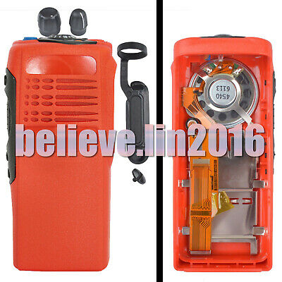 Red Case Housing with ribbon type cable mic+ speaker fit motorola HT750 radio