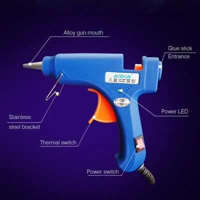 20W 110-220V Professional Mini Electric Heating Hot Melt Glue Gun LOT BU