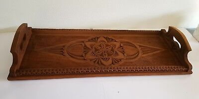 Antique Queensland Maple Timber Serving Tray. C1910-20