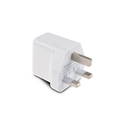 15W 5V 3A USB Charger 2 Port Twin Plug Wall FAST Dual AMP 3 Pin Mains UK Adapter