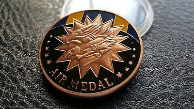 Collectable COMMEMORATIVE USA MILITARY AIR MEDAL CHALLENGE COIN