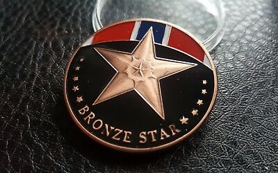 Collectable COMMEMORATIVE USA MILITARY BRONZE STAR MEDAL CHALLENGE COIN