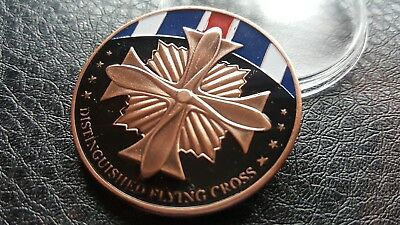 Collectable COMMEMORATIVE  MILITARY DISTINGUISHED FLYING CROSS CHALLENGE COIN