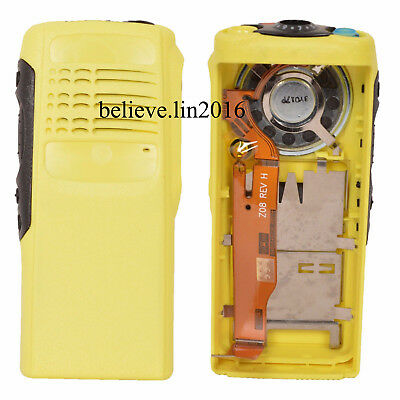 Yellow Case Housing cover fit motorola HT750radio(ribbon type cable mic+ speake)