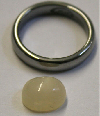 Natural Loose Moonstone 8X11Mm Oval 6Mm Tall Cabochon 4Ct Mu40
