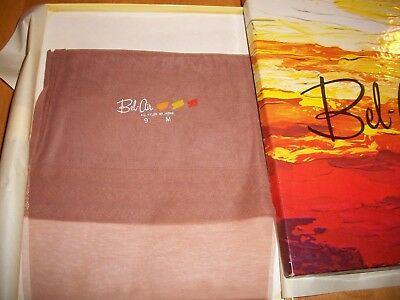 Nylon stockings / BEL AIR First Quality / 2 Pair / California Gold / Size 9