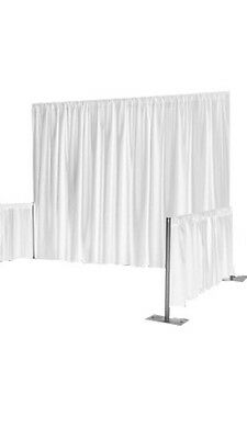Ice White PLEATED Backdrop For Wedding, Stage, Party, Drape 3m X 3m Lycra Feel