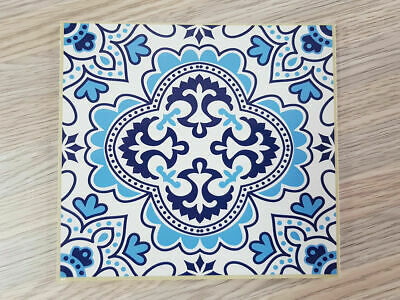 Self adhesive Tile Sticker Vintage Blue - 15cm x 15cm Pack of 18