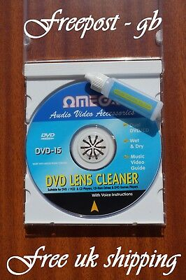 Cd - Dvd & Blu-Ray Wet Or Dry Use Lens / Laser Cleaner / Cleaning Disc + Fluid