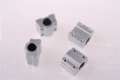 SCS8UU 8mm Linear Ball Bearing Pillow Block Linear Slides Unit for CNC 4PCS