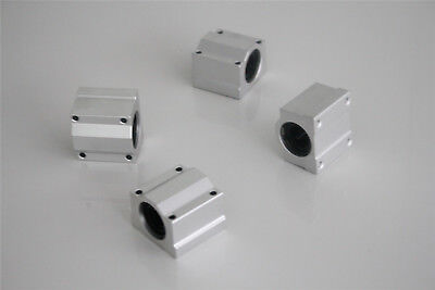 SCS16UU 16mm Linear Ball Bearing Pillow Block Linear Slides Unit for CNC 4PCS