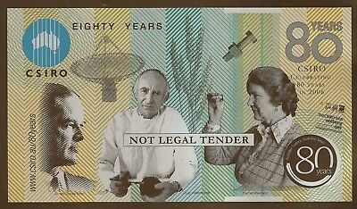 CSIRO 80 years commemorative POLYMER note with FOLDER
