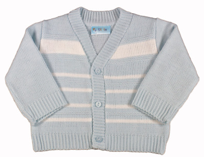 Baby boy cardigan Spanish style striped