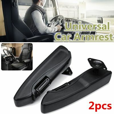 2x Universal Car Truck Adjustable Armrest Arm Rest Centre Console PU Comfortable