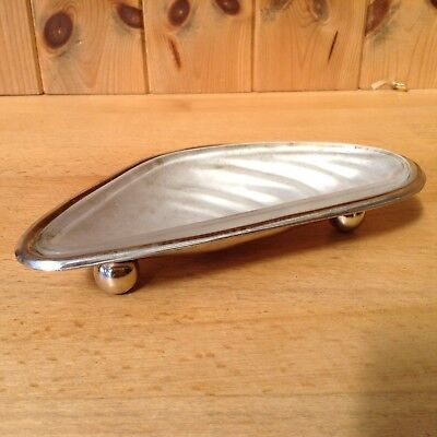 Vintage Silver Plated Mussel Shell Dish With Glass Inner