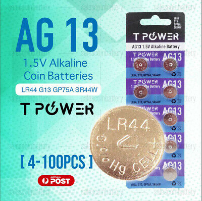 Naccon AG13 1.5V LR44 G13 GP76A Cell Coin Alkaline Button Battery Batteries