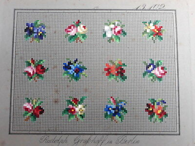 Antique Berlin Woolwork Pattern Chart Tapestry Embroidery Rudolph Grafhoff