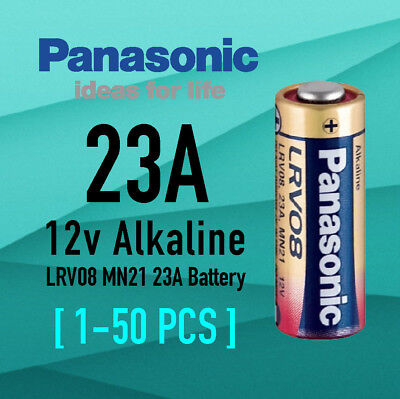 Genuine Panasonic A23 Alkaline Remote Batteries 12V LRV08 MN21 23A A23 Battery
