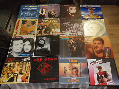 "ROCK/ POP 70/80ties      NICE LOT WITH 16 SINGLES/ 7""     TOP CONDITION!!    #11"