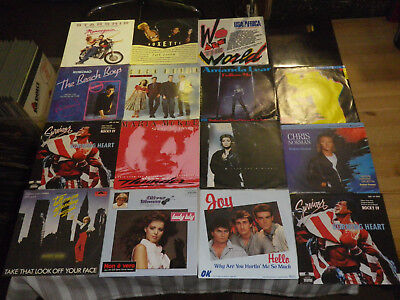 "ROCK/ POP 70/80ties       NICE LOT WITH 16 SINGLES/ 7""      TOP CONDITION!   #13"