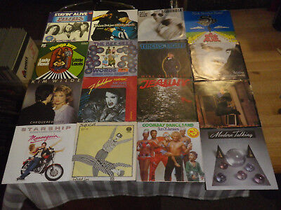 "ROCK/ POP 70/80ties        NICE LOT WITH 16 SINGLES/ 7""      TOP CONDITION!  #15"