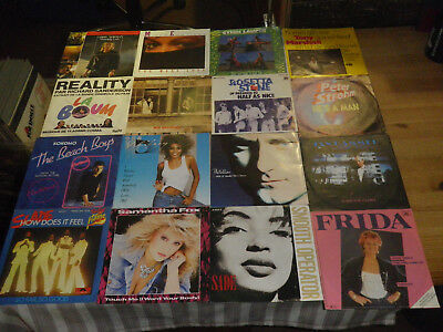 "ROCK/ POP 70/80ties       NICE LOT WITH 16 SINGLES/ 7""     TOP CONDITION!    #16"